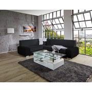 Sedacia Súprava Miami - čierna, Basics, drevo/textil (210/260cm) - Ombra