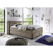 Boxspringbett Illinois A1 ca. 140x200 cm - Schlammfarben/Schwarz, KONVENTIONELL, Holzwerkstoff/Textil (140/200cm) - Carryhome