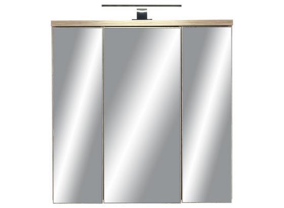 Skrinka So Zrkadlom Catherine - farby borovice/tmavosivá, Moderný, kov/kompozitné drevo (69/69/20cm) - Mömax modern living