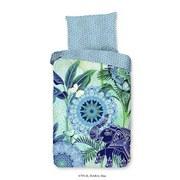 Bettwäsche Isara 140/200cm Blau/Grün - Blau/Grün, Basics, Textil