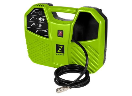Druckluftkompressor Zi-com2-8 - Schwarz/Grün, MODERN, Kunststoff/Metall - Zipper
