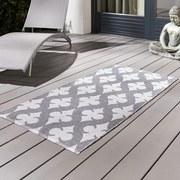 Exteriérový Koberec Club - sivá/biela, Moderný, textil (70/140cm)