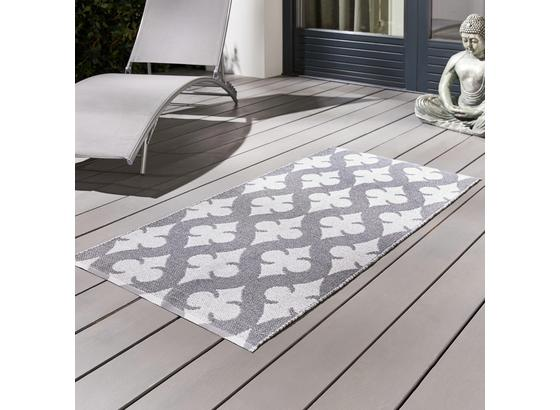Venkovní Koberec Club - šedá/bílá, Moderní, textil (70/140cm) - Mömax modern living