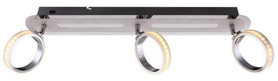 LED-spotleuchte Idaho - Silberfarben, MODERN, Kunststoff/Metall (60/16,5/18,5cm)