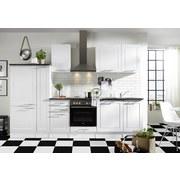 Küchenleerblock Welcome 6 - Weiß/Grau, Design, Holzwerkstoff (300cm) - MID.YOU