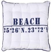 Sitzkissen Beach - Blau/Weiß, MODERN, Textil (40/40/cm) - Luca Bessoni