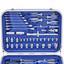 """Werkzeugkoffer 03156 1/2"""" und 1/4"""", 82-teilig - Blau, MODERN, Kunststoff/Metall (48,5/39,5/15,5cm) - Erba"""