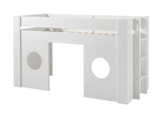 Hochbett Freya 90x200 cm Weiß - Weiß, MODERN, Holzwerkstoff (90/200cm) - Livetastic