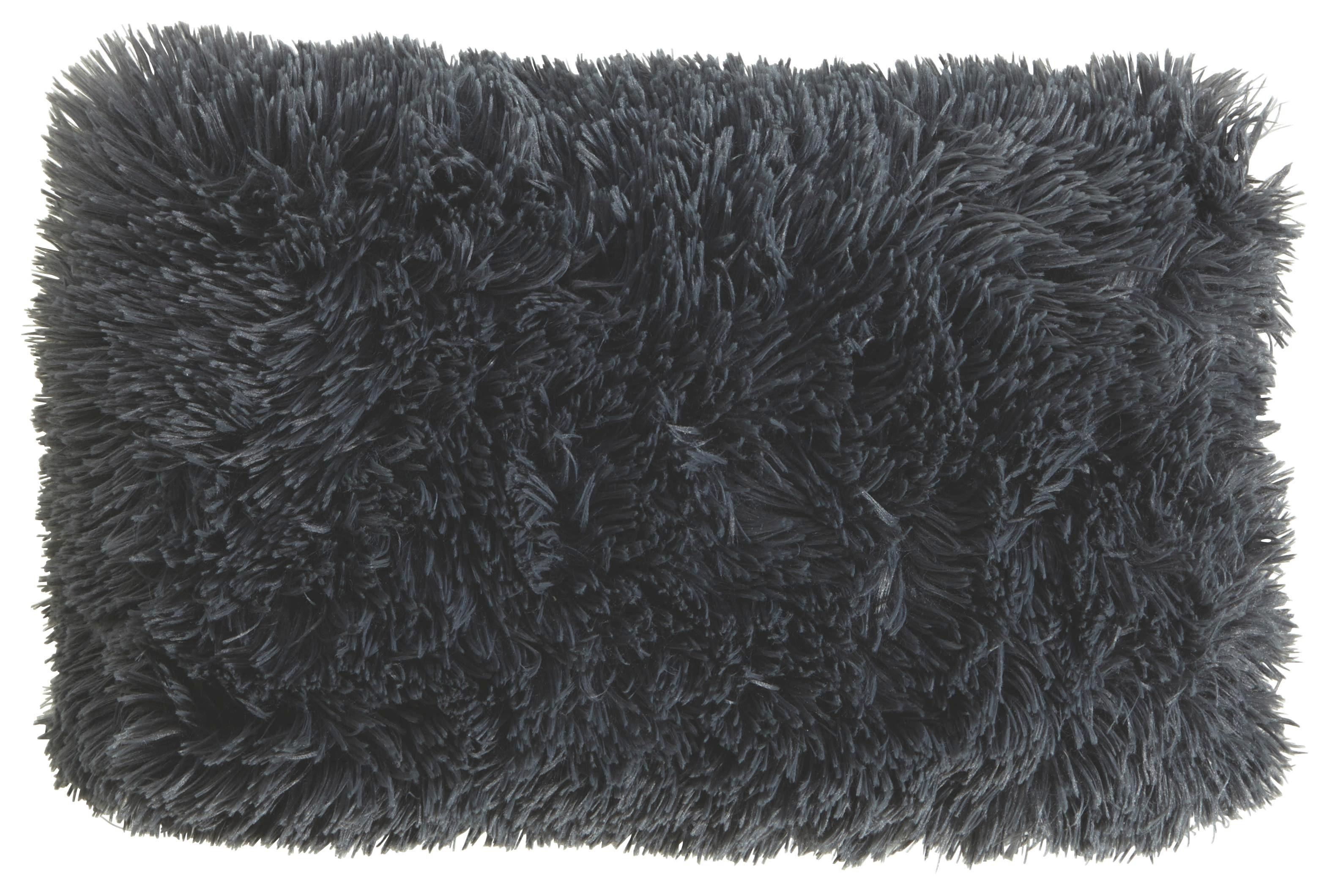 Díszpárna Carina - antracit, modern, textil (30/50cm)