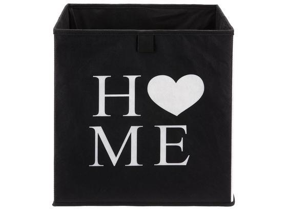 Uskladňovací Box Poppi 9 -based/sb- - čierna/biela, Moderný, kartón/textil (32/32/32cm) - Modern Living