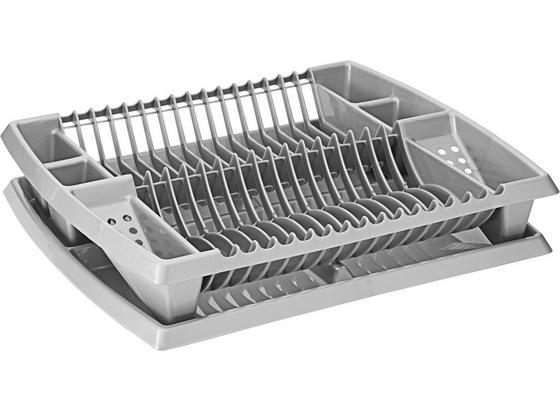 Odkapávač Na Nádobí Helge - barvy stříbra, umělá hmota (44.2/8.5/38.3cm)
