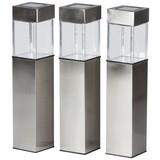 Solarleuchte 3er Pack - MODERN, Kunststoff/Metall (5,5/39/5,5cm) - Grundig