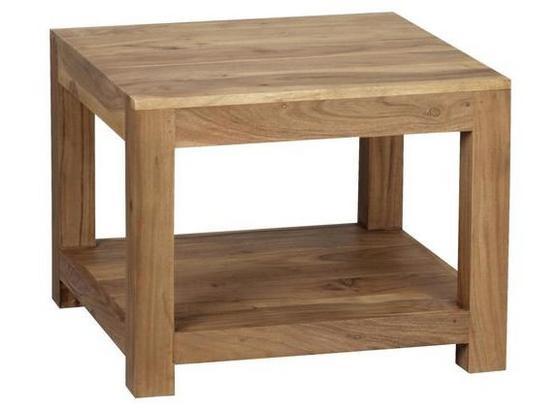 Couchtisch Holz Massiv Mumbai, Akazie B:60cm - Akaziefarben, Design, Holz (60/60/40cm) - Livetastic
