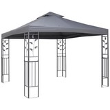 Pavillon Manila - Grau, MODERN, Kunststoff/Metall (300/300/275cm) - Luca Bessoni