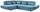 Wohnlandschaft in L-Form Park 233x311 cm - Blau/Schwarz, MODERN, Textil (233/311cm) - Luca Bessoni