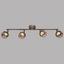 LED-Spotleuchte Esra - Rostfarben/Goldfarben, MODERN, Metall (60,5/16,5cm)
