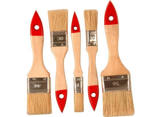 Pinselset 5-teilig - KONVENTIONELL, Naturmaterialien/Holz (18.19cm) - Gebol