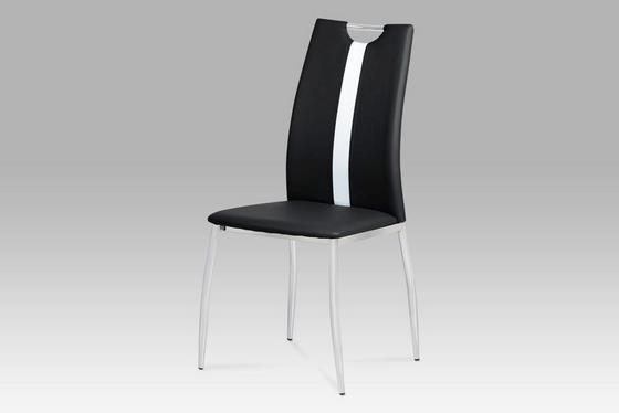 Židle Viki - černá, Moderní, kov/umělá hmota (44/97/41cm)