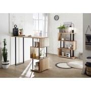 Bartisch Fernando 1 - Eichefarben/Schwarz, Design, Holz/Metall (135/50/105cm) - Hom`in