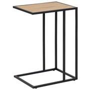 Beistelltisch Seaford Eichefarben + Stahl Schwarz - Eichefarben/Schwarz, Trend, Holzwerkstoff/Metall (43/35/63cm) - Carryhome