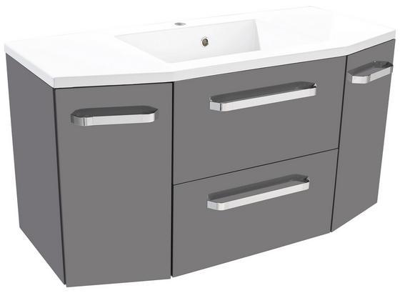 Waschtischunterschrank Santo - Anthrazit/Weiß, KONVENTIONELL, Holzwerkstoff/Stein (110/53/44,5cm)