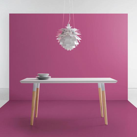 Jedálenský Stôl Evlyn - farby borovice/svetlosivá, Moderný, kov/drevo (160/80/75cm) - Modern Living