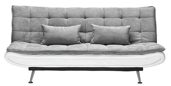 Rozkládací Pohovka Cloud - bílá/šedá, kov/dřevo (196/92/98cm) - Mömax modern living