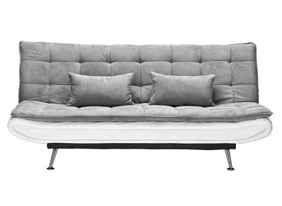Rozkládací Pohovka Cloud - šedá/bílá, kov/dřevo (196/92/98cm) - Mömax modern living