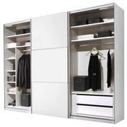Schwebetürenschrank Includo 249cm Weiß - Weiß, MODERN, Holzwerkstoff (249/222/68cm)