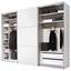 Schwebetürenschrank Includo B:280cm Weiß - Weiß, MODERN, Holzwerkstoff (280/222/68cm)