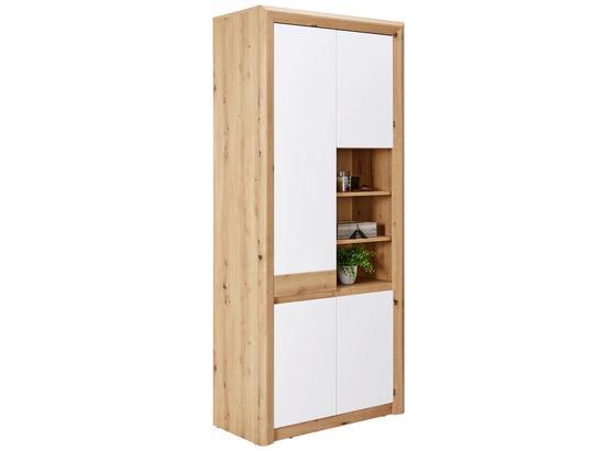 Skrinka Na Topánky Kashmir New - farby dubu/biela, Moderný, kompozitné drevo (84/192/41cm) - James Wood