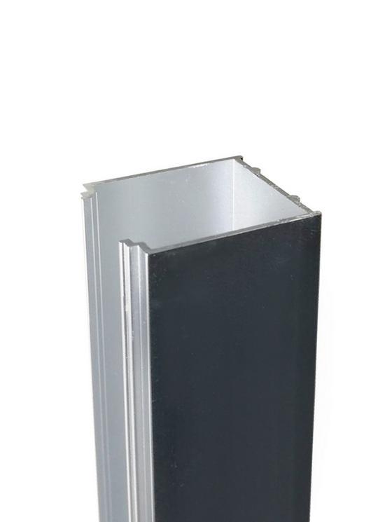 Verbreiterungsprofil für Sanoflex Seitenwände - Champagner, Basics, Metall (2,7/195/3cm)