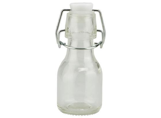Universalflasche Irinai, 75 ml - Klar/Weiß, KONVENTIONELL, Glas/Kunststoff (4,5/11cm) - Ombra