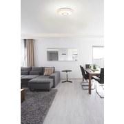 LED-Deckenleuchte D: ca. 40cm - Opal/Weiß, MODERN, Kunststoff/Metall (40/6,5cm)