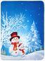 Fleecedecke Navidad - Blau, Textil (130/170cm)
