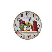 Wanduhr Jardin Bot Antique - Multicolor, MODERN, Holzwerkstoff (34/34/4cm)