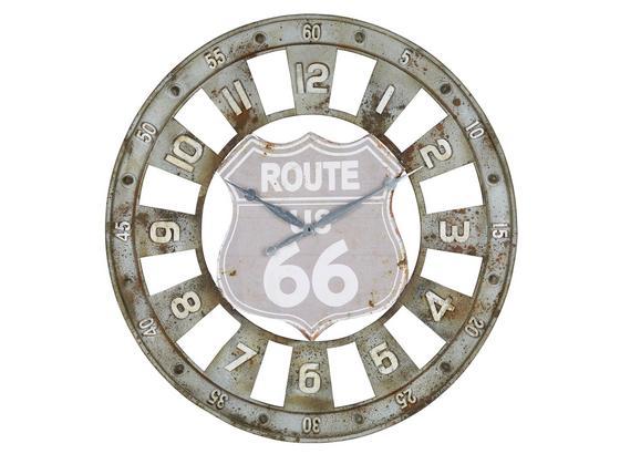 Hodiny Nástěnné Route 66 - šedá/hnědá, Lifestyle, kov (80/4cm) - Mömax modern living