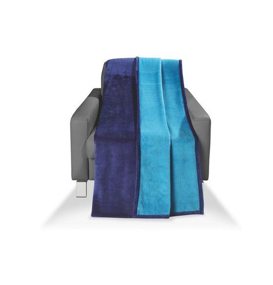 Wohndecke Carmina 150x200 cm - Petrol/Dunkelblau, KONVENTIONELL, Textil (150/200cm) - Luca Bessoni