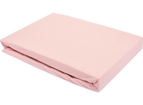 Prostěradlo Napínací Basic - růžová, textil (150/200cm) - Mömax modern living