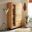 Vitrína Aruba - farby akácie, Konvenčný, drevo (110/190/45cm) - Zandiara