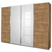 Skříň S Posuvnými Dveřmi Bensheim 316/211 Hg - bílá/barvy dubu, Moderní, dřevěný materiál (316/211/62cm) - James Wood