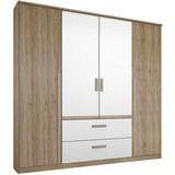 Skriňa Bernau 180 - farby dubu/biela, Moderný, drevený materiál (181/212/56cm)
