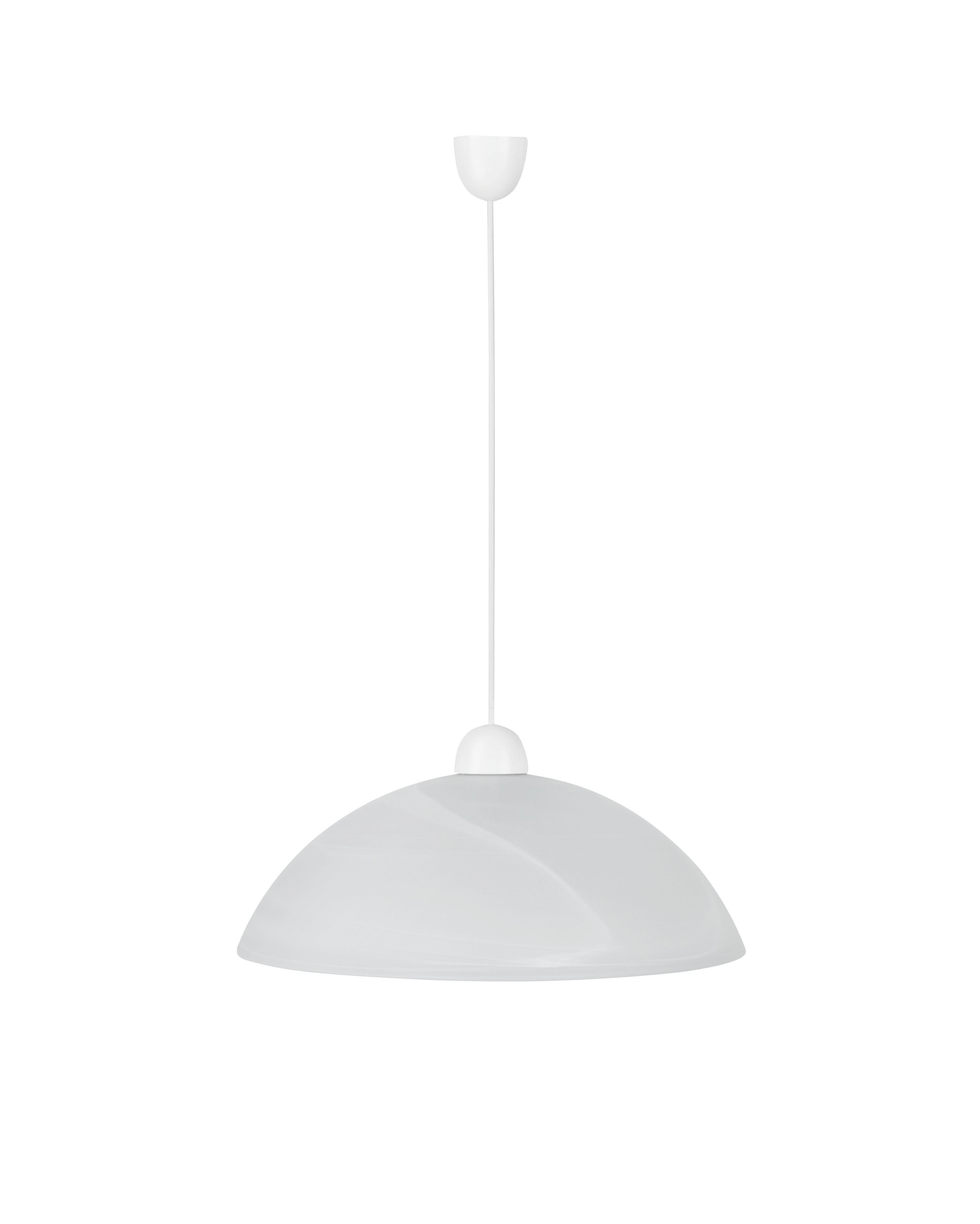 Függőlámpa Vera - fehér, konvencionális, műanyag/üveg (40/115cm) - MÖBELIX