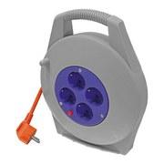 Verlängerungskabel Kabelbox 10m - Blau/Grau, Kunststoff (22/27,5/7cm) - Erba