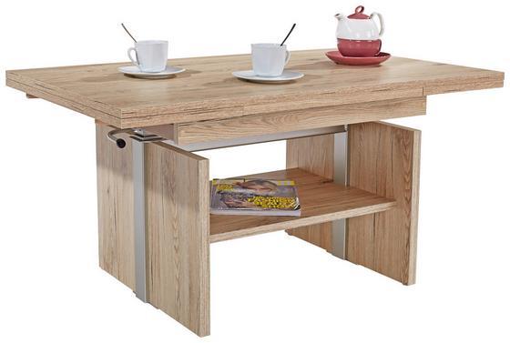 Konferenční Stolek Falco - barvy dubu, Konvenční, kompozitní dřevo (105-160/48-65/63cm)