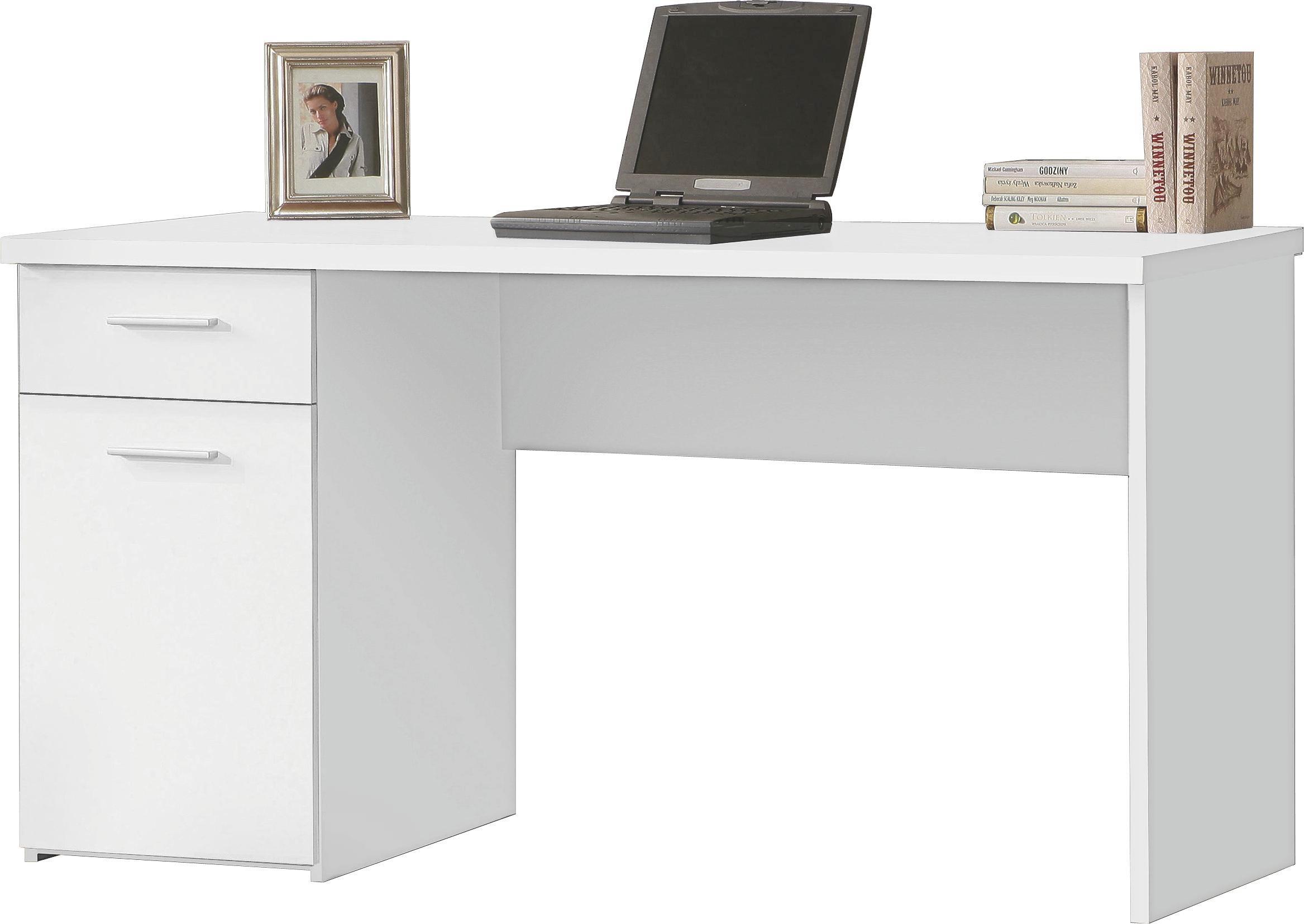 Íróasztal Net 106 - fehér, modern, műanyag/fém (140/76,5/60cm)