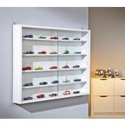 Hängevitrine Compilati B:80cm mit Sicherheitsglas, Weiß - Weiß, KONVENTIONELL, Glas/Holzwerkstoff (80/60/9,5cm) - MID.YOU