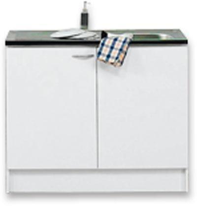 Dřezová Skříňka Speed - bílá, Moderní, dřevěný materiál (100/85/47cm)