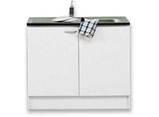 Dřezová Skříňka Speed - bílá, Moderní, kompozitní dřevo (100/85/47cm)