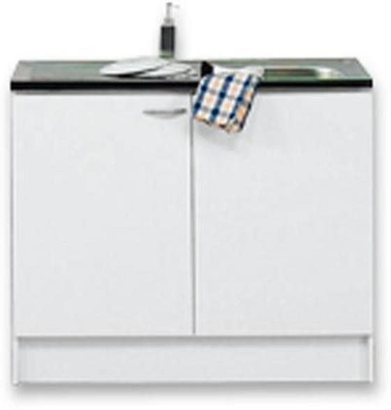 Spülenunterschrank Speed  Dspu 100-50 W - Weiß, MODERN, Holzwerkstoff (100/85/47cm)